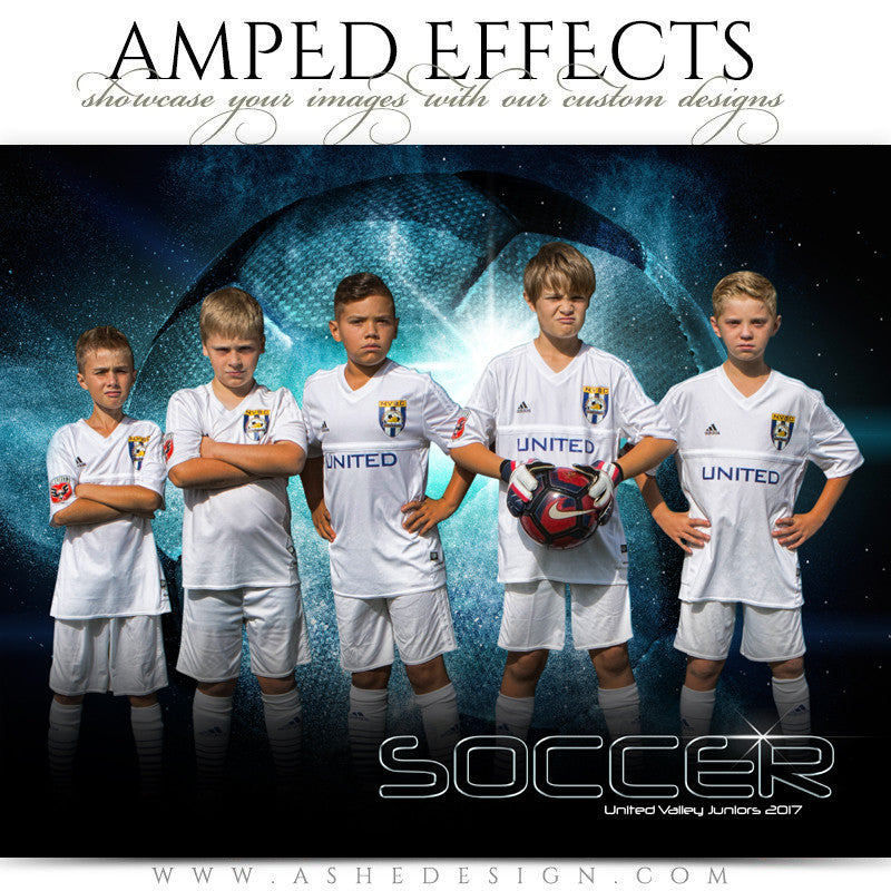 Ashe Design 16x20 Amped Effects Sports Photography Photoshop Templates Soccer Poster Platinum Burst