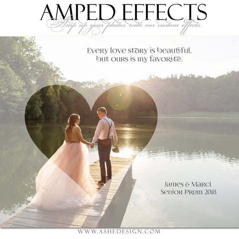 Ashe Design 16x20 Amped Effects - Love Story Inset