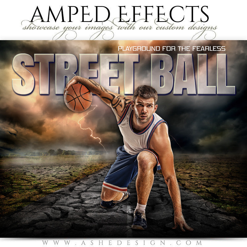 Ashe Design 16x20 Amped Effects Sports Photography Photoshop Templates Breaking Ground