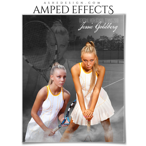 Ashe Design 16x20 Amped Effects Poster - Dream Weaver - Tennis