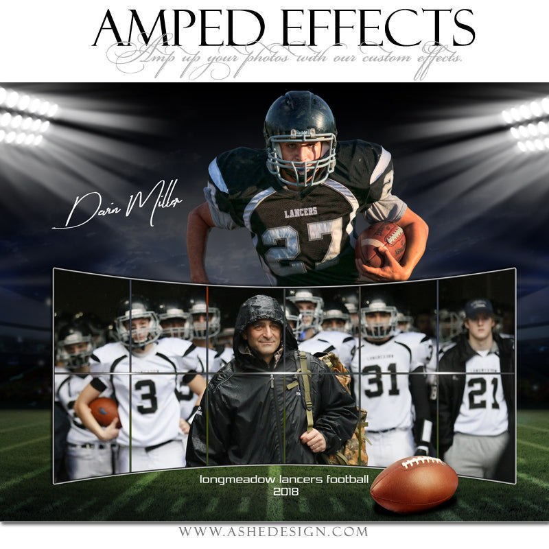 Ashe Design 16x20 Amped Effects Poster - Across The Board Football