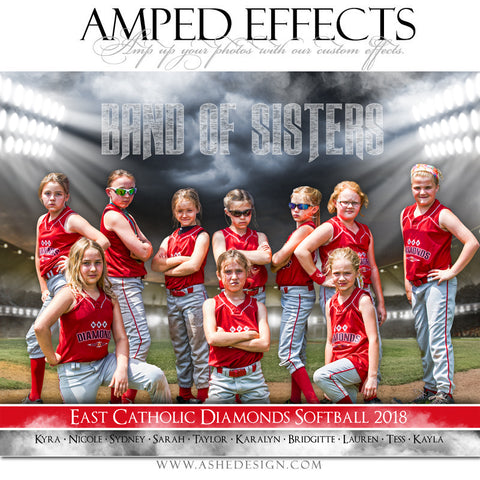 Ashe Design 16x20 Amped Effects Sports Poster - Band Of Sisters