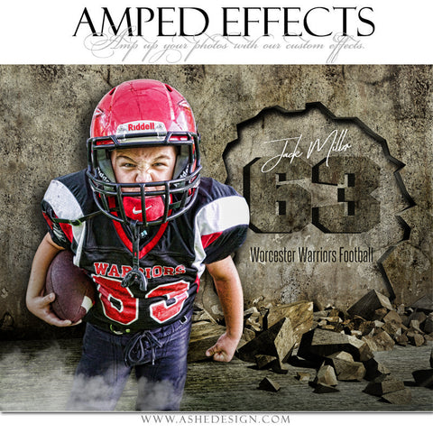 Ashe Design 16x20 Amped Effects Sports Poster - Crumbling Down