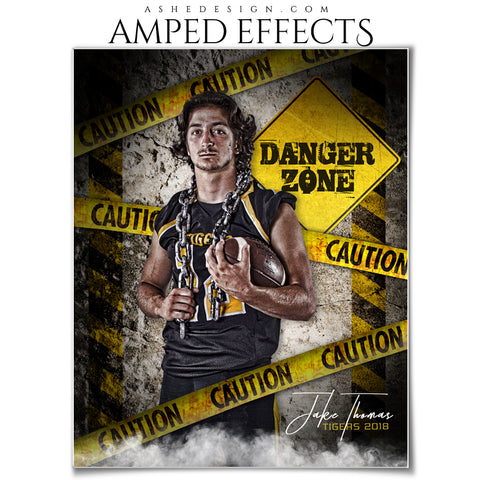 Ashe Design 16x20 Amped Effects Sports Poster - Danger Zone