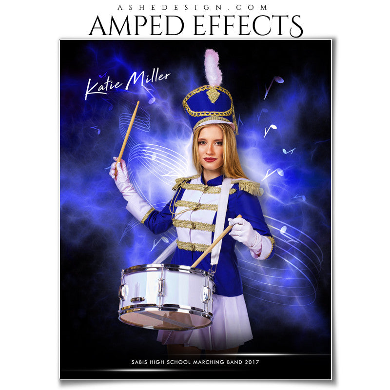 Ashe Design 16x20 Amped Effects Sports Poster - Electric Explosion - Marching Band