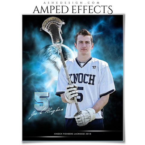 Ashe Design 16x20 Amped Effects Sports Photography Photoshop Templates Electric Explosion Lacrosse