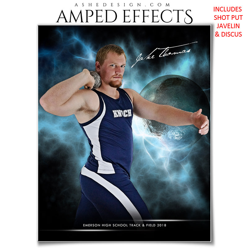Ashe Design 16x20 Amped Effects Sports Photography Photoshop Templates Electric Explosion Track