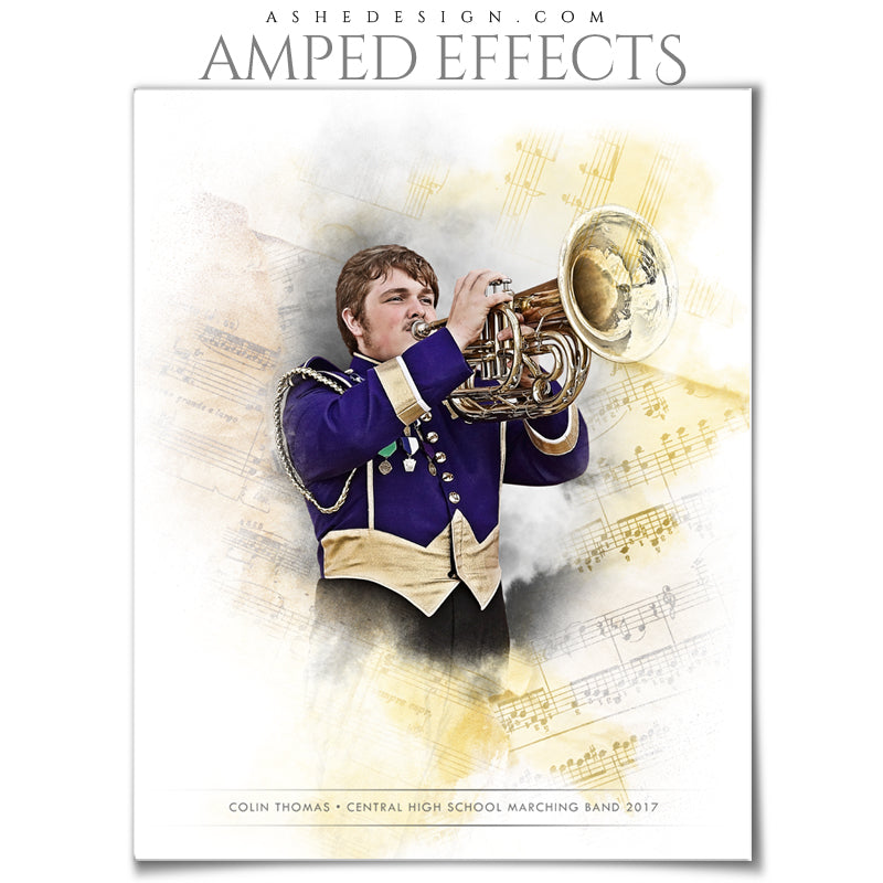 Ashe Design 16x20 Amped Effects Sports Poster - Electrified Music
