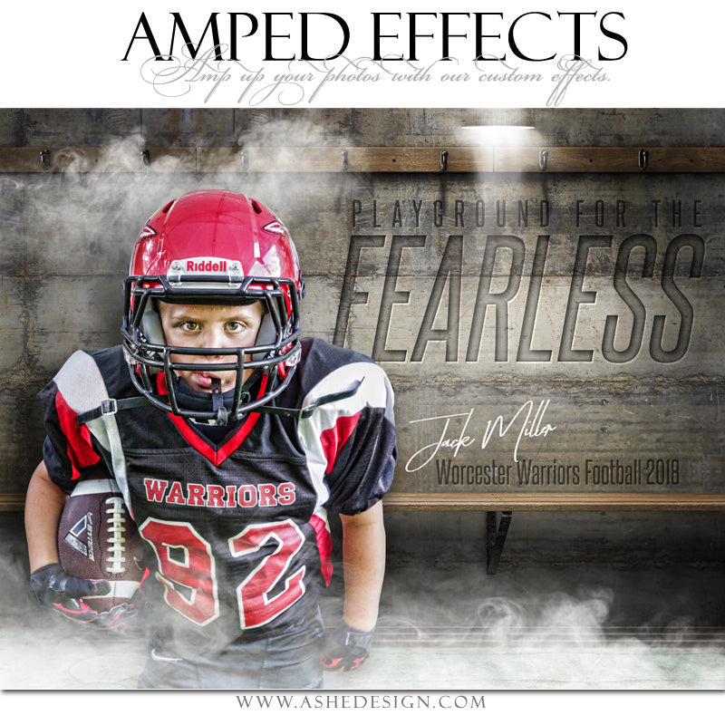 Ashe Design 16x20 Amped Effects Sports Poster - Fearless