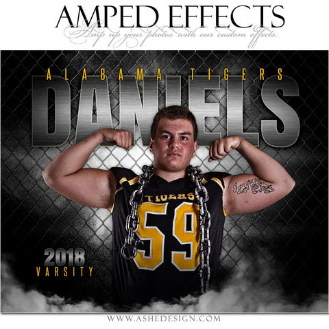 Ashe Design 16x20 Amped Effects Sports Poster - Gridiron