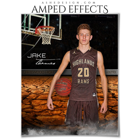Ashe Design 16x20 Amped Effects Sports Poster - Breaking Ground Basketball