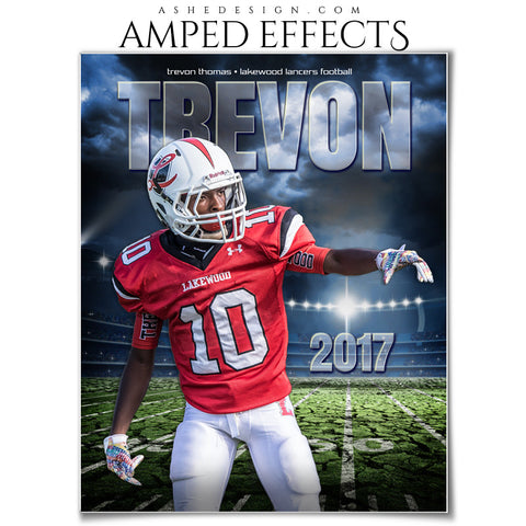 Ashe Design 16x20 Amped Effects Sports Photography Photoshop Templates Breaking Ground Football