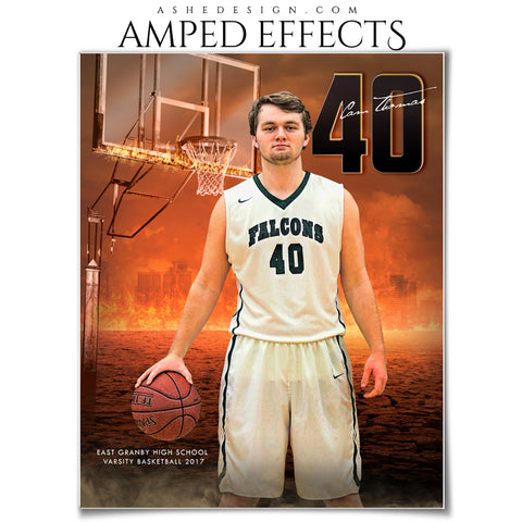 Ashe Design 16x20 Amped Effects Sports Photography Photoshop Templates Inferno Basketball