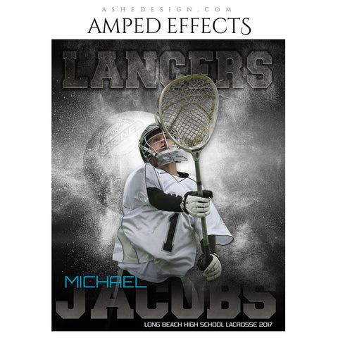 Ashe Design 16x20 Amped Effects Sports Photography Photoshop Templates Lacrosse Powder Explosion