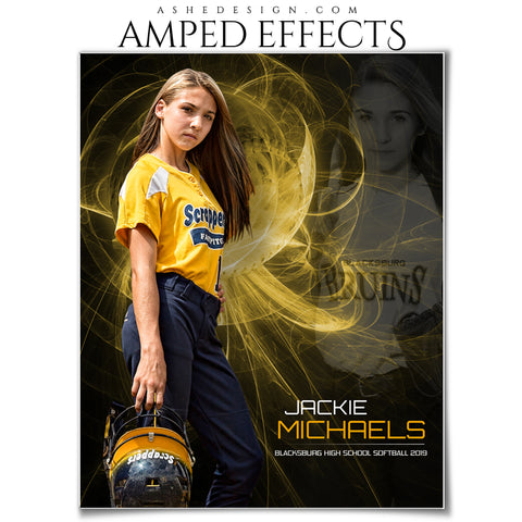 Ashe Design 16x20 Amped Effects - Mystic Explosion Softball