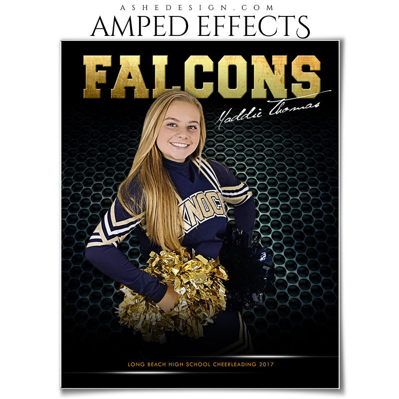 Ashe Design Amped Effect Sports Poster Cheerleading
