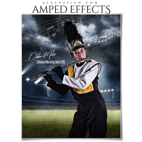 Ashe Design 16x20 Amped Effects Sports Poster - Stormy Lights Marching Band