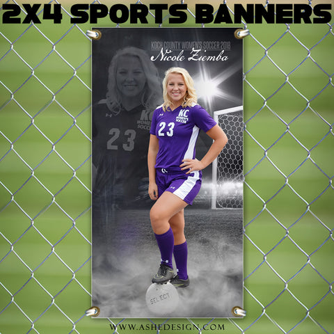Ashe Design 2x4 Sports Banner - Dream Weaver Soccer