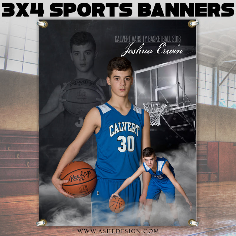 Ashe Design 3ft x4ft Stadium Banner - Dream Weaver Basketball