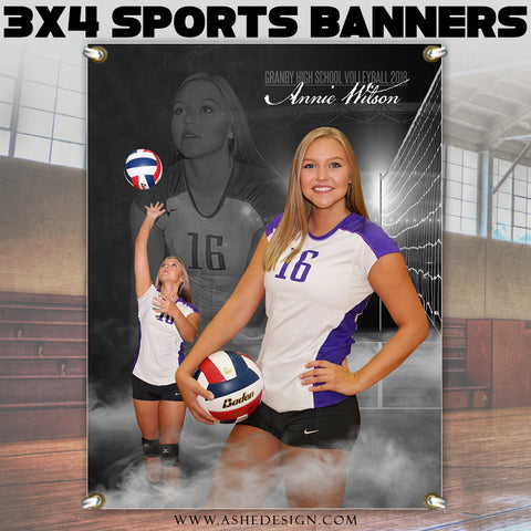 3x4 Amped Sports Banner - Dream Weaver Volleyball