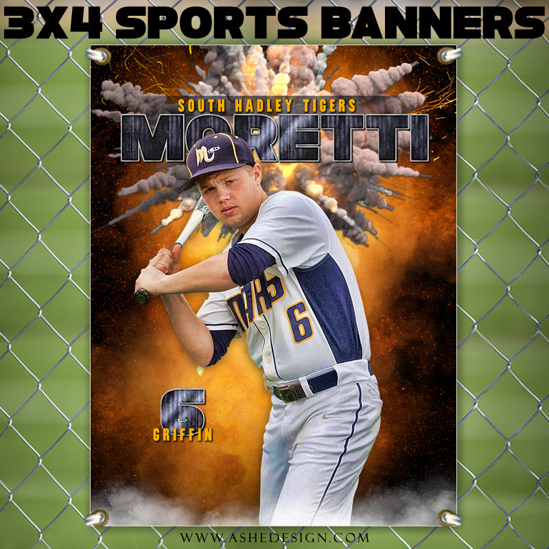 Ashe Design 3x4 Amped Sports Banner Photoshop Templates | Ignite