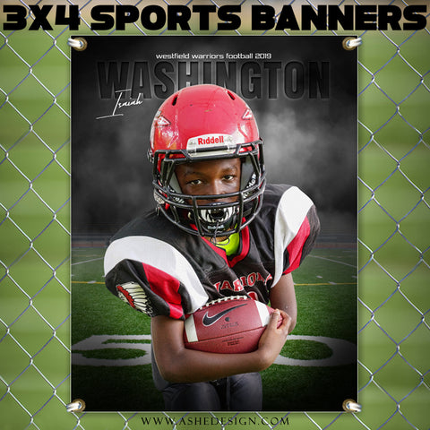3x4 Amped Sports Banner - In The Shadows Football