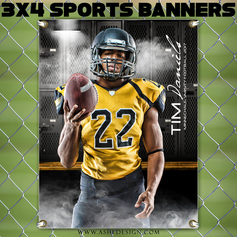 Ashe Design 3x4 Sports Banner Suit Up Locker Room