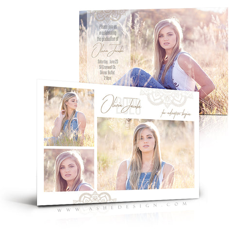 Ashe Design 5x7 Graduation Invitation - Adventure Begins