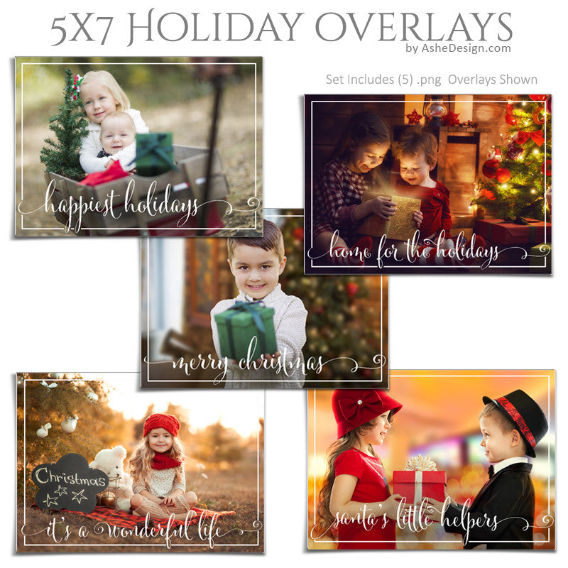 Designer Gems - 5x7 Holiday Overlays - Home For The Holidays