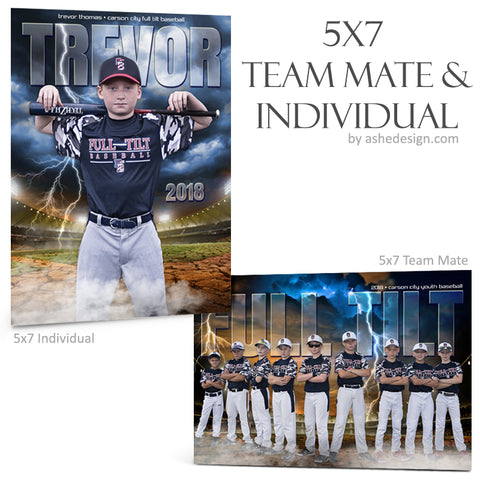 Ashe Design 5x7 Team Mate & Individual - Breaking Ground Baseball - Softball