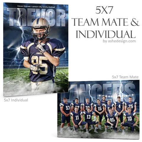 Ashe Design 5x7 Team Mate & Individual - Breaking Ground Football