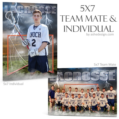Ashe Design 5x7 Team Mate & Individual - Breaking Ground - Lacrosse