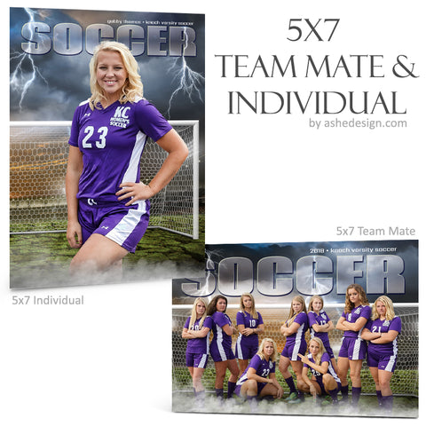 Ashe Design 5x7 Team Mate & Individual - Breaking Ground - Soccer