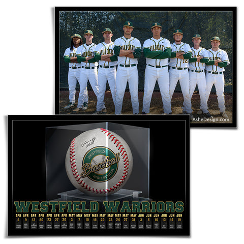 Team Game Schedule - Display Case Baseball