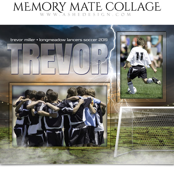 Ashe Design 8x10 Sports Memory Mates - Breaking Ground Soccer HZ