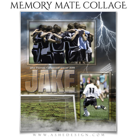 Ashe Design 8x10 Sports Memory Mates - Breaking Ground Soccer VT