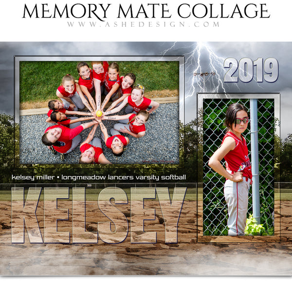 Ashe Design 8x10 Sports Memory Mates - Breaking Ground Softball HZ