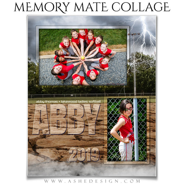 Ashe Design 8x10 Sports Memory Mates - Breaking Ground Softball VT