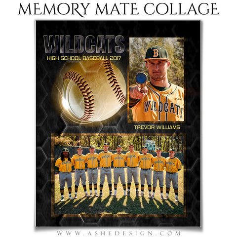 Sports Memory Mates - Honeycomb Baseball