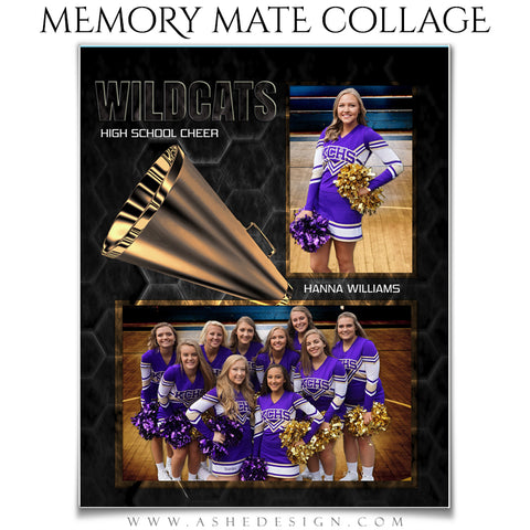 Ashe Design 8x10 Memory Mates - Honeycomb Cheer VT