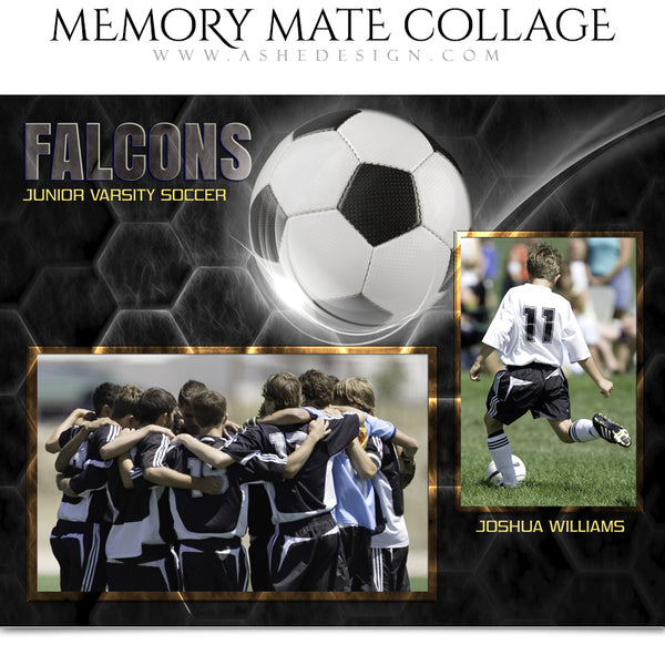 Ashe Design 8x10 Sports Memory Mate Honeycomb Soccer HZ