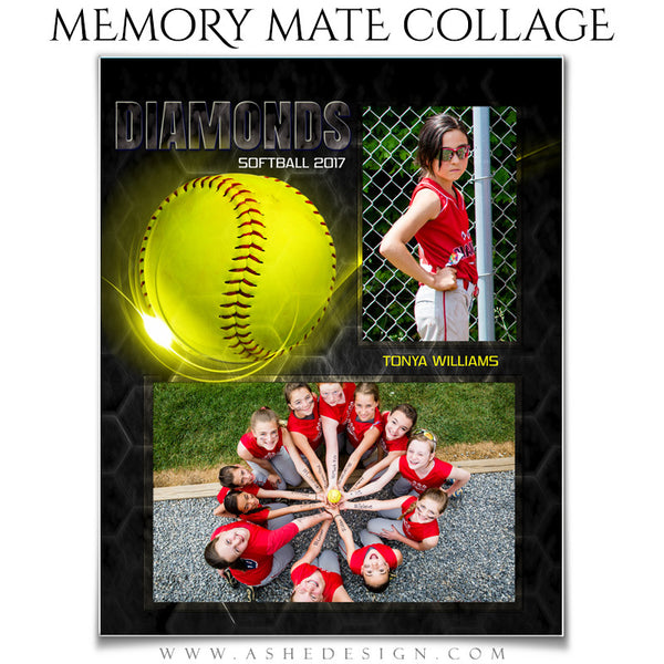 Ashe design sports memory mates honeycomb baseball for Softball brochure templates