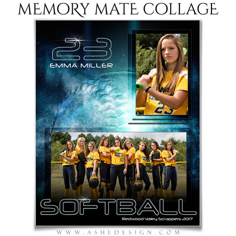 Sports Memory Mates - Platinum Burst Softball