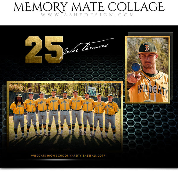 Ashe Design 8x10 Sports Memory Mate School Spirit Horizontal