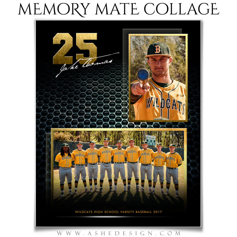 Ashe Design 8x10 Sports Memory Mate School Spirit Vertical