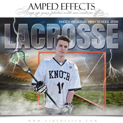 Ashe Design 16x20 Amped Effects Sports Poster - Breaking Ground Lacrosse