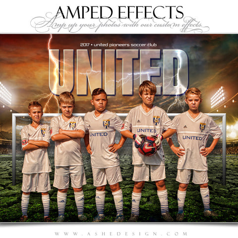 Ashe Design 16x20 Amped Effects Sports Photography Photoshop Templates Breaking Ground Soccer Team