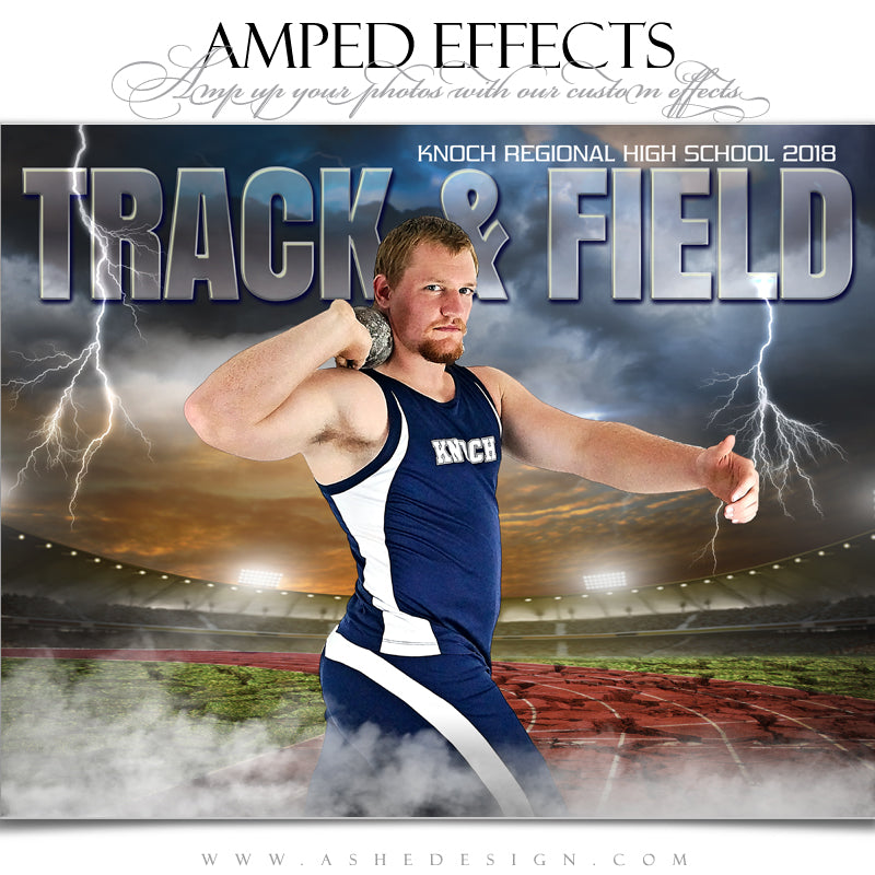 Ashe Design 16x20 Amped Effects Sports Poster - Breaking Ground Track and Field