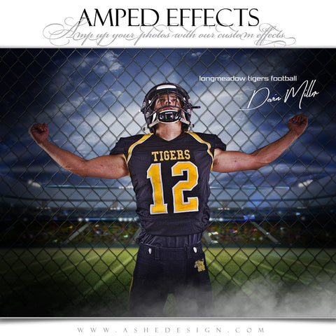 Ashe Design 16x20 Amped Effects Sports Poster - Fenced In Football