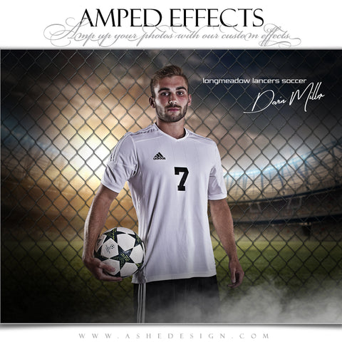 Ashe Design 16x20 Amped Effects Sports Poster - Fenced In Soccer
